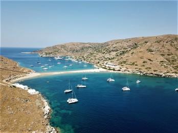 Kolona Bay, Kithnos - a wonderful sailing destination