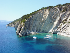 Calm landscape in the Ionian Sea: picture from Meganisi island