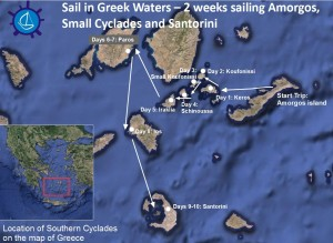 Sail in Small Cyclades and Santorini
