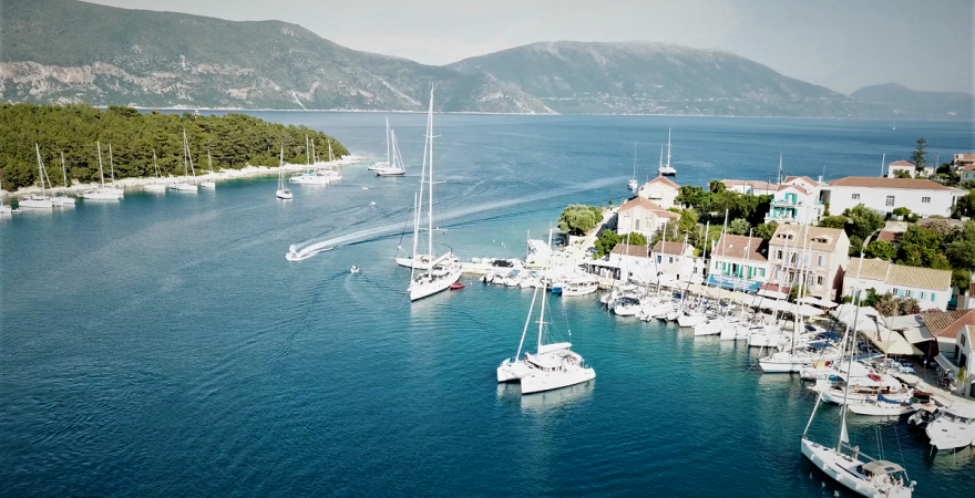 Fiscardo: Sailing yachts in the Ionian Sea