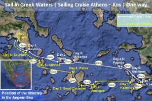 Click the image for the Chart | Sail in Greek Waters