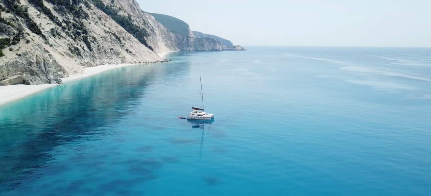 Egremni white beaches in Lefkas | Sail in Greek Waters