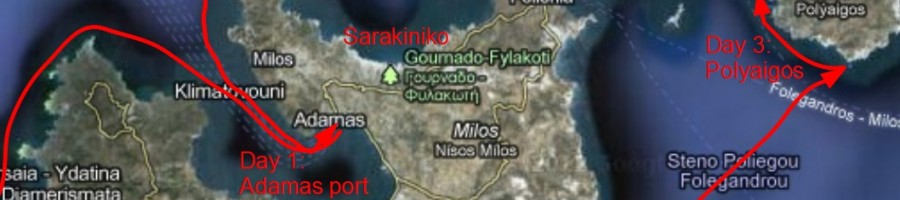 Map of Milos island - Click to enlarge