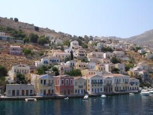 Simi island - Part of main port | Sail in Greek Waters