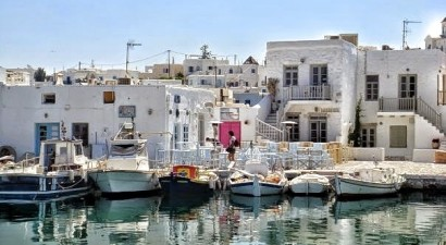 The picturesque port of Naoussa: A busy sailing destination
