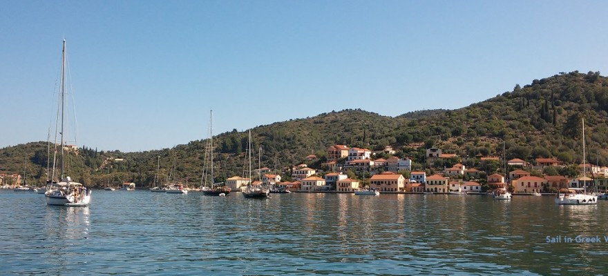 Picturesque port of Ithaca - beautiful and safe port - Sail in Greek Waters