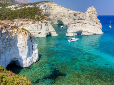Kleftiko, in Mylos island: Awesome sailing experiences around the Greek islands
