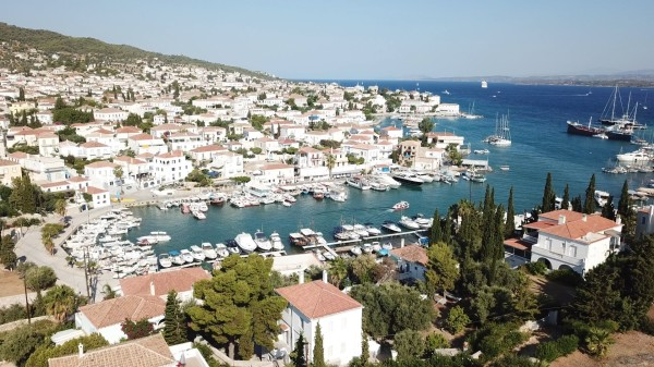 The picturesque Old Port of Spetses | Sail in Greek Waters