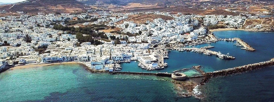 The small port of Schoinoussa island