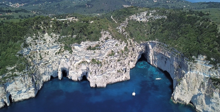 Cave of Ypapantis - Paxos island | Sail in Greek Waters